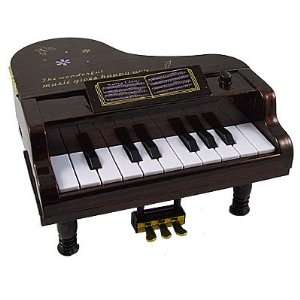 Como 11 Key Mini Piano Music Instrument Toy Gift Brown for