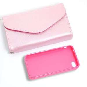 Product] Pink Wallet Card Faux Leather Flip Case+Pink Plastic
