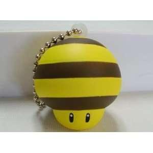 Nintendo Super Mario Galaxy Soft Squishy Figure Keychain Bee Mushroom