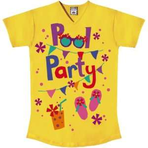 Girls Pool Party Yellow Big Tee Shirt Toys & Games