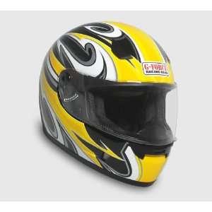 Full Face Street Powersports Street Helmet  XLarge Yellow Automotive
