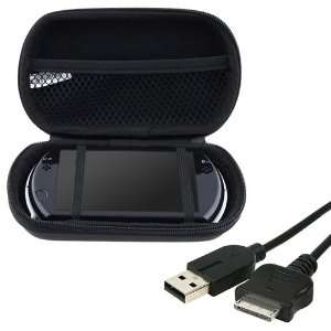 & Charging USB Cable + Black Eva Case for Sony PSP GO Video Games
