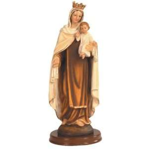 Our Lady of Carmel Brown Religious Figurine Statue Home & Kitchen