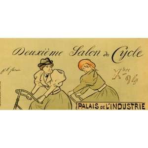 GIRL BICYCLE BIKE CYCLES EUROPE FRENCH 20 X 36 VINTAGE