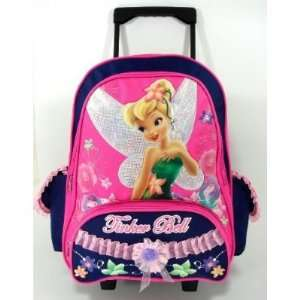 Disney Tinkerbell Large 15 Rolling Backpack   Love Nature
