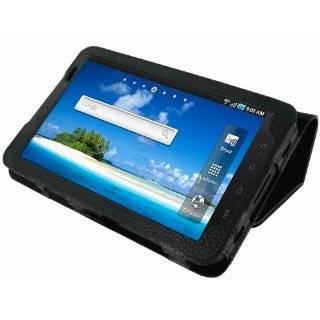 Samsung Galaxy Tab P1000 Black Leather Executive Folio Case / Cover