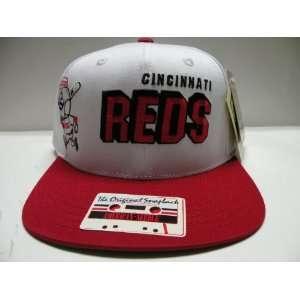 MLB Cincinnati Reds White Script 2 Tone Retro Snapback Cap