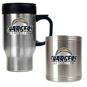 San Diego Chargers NFL Travel Mug & Stainless Can Holder Set   Primary