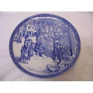 Spode Blue Room Victorian Christmas Plate, No. 4, 1998