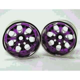 Redcat Racing 89106pp Chrome 7 Spoke Purple Anodized Wheels