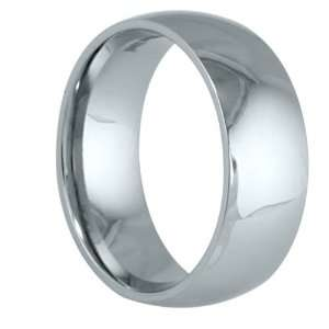 Stainless Steel Dome 8mm Polished Comfort Fit Wedding Band Ring ( Size