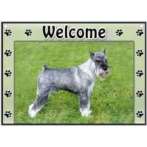 Standard Schnauzer Welcome Sign Patio, Lawn & Garden