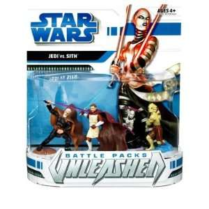 Star Wars Clone Wars Unleashed Battle Packs   Jedi vs. Sith Action