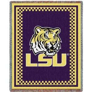 LSU Louisiana State Tigers Tapestry Throw