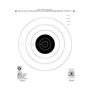 50 ft. Timed and Rapid Fire Pistol Targets, 10.5x12, 20 Pack