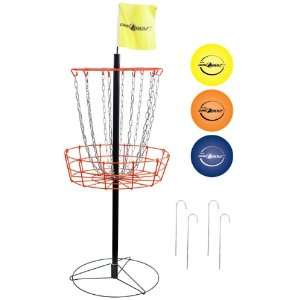 Park & Sun Portable Disc Golf Target and Disc Set  Sports
