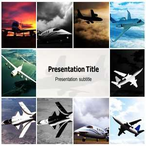 Airplane Powerpoint Template  Airplane Powerpoint Backgrounds