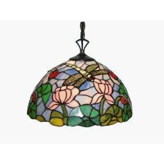 Stained Glass Tiffany Hanging Lamp 18 Pendant (18 Dia