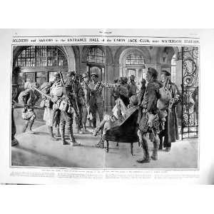 1916 BRITISH SOLDIERS UNION JACK CLUB FRANCE WATERLOO