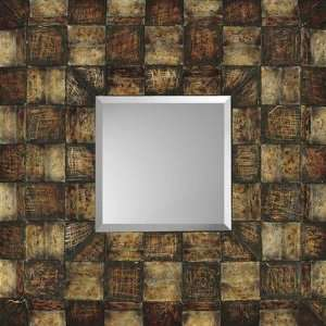 Paragon Aged Contemporary Block Contemporary Wall Mirror 8864