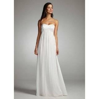 Davids Bridal Wedding Dress Beaded Halter Dress with