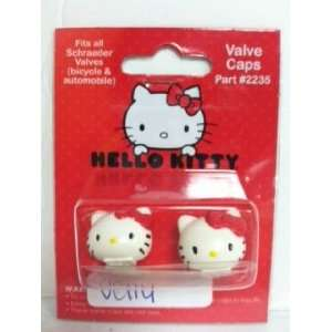 CLASSIC HELLO KITTY VALVE CAPS WHITE Sports & Outdoors
