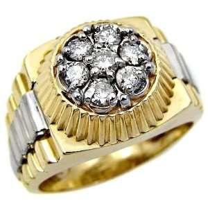 Mens .70ct Diamond Ring in 14k Yellow & White Gold (10
