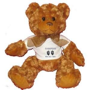 SHEEPDOG MANS BEST FRIEND Plush Teddy Bear with WHITE T
