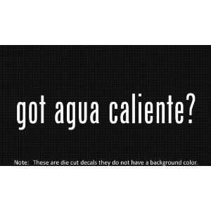 (2x) Got Agua Caliente   Sticker   Decal   Die Cut   Vinyl