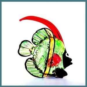 Hawaiian Glass Figurine Jenn the Angel Fish  Kitchen