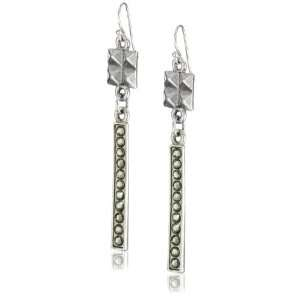 Shameless Jewelry Twisted Love Pyramid Earrings with Swarovski Crystal