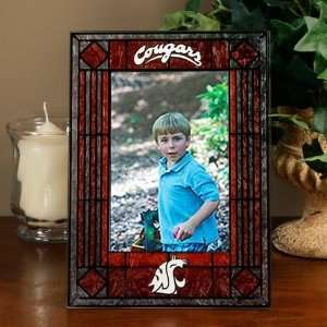 Washington State Cougars Art Glass Picture Frame Sports