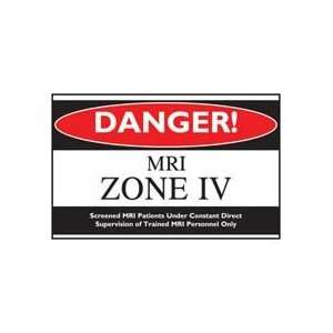WARNING SIGN   MRI ZONE IV SIGN Health & Personal Care