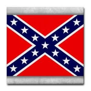 Tile Coaster (Set 4) Rebel Confederate Flag HD: Everything