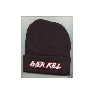 OVER KILL Beanie HAT SKI CAP Black NEW