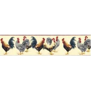 Chickens Rooster Wallpaper Border KC78066