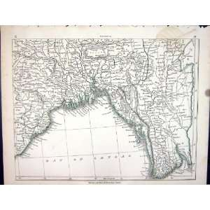 Antique Map 1853 Bay Bengal Chittagong Chinese Empire Home & Kitchen