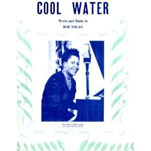 Cool Water   Sheet Music Score: Bob Nolan: Books