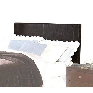 Caldwell Dark Brown Faux Leather Headboard, Queen