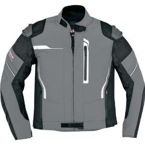 Sport Mens Textile Street Motorcycle Jacket   Dark Grey / 3X Large