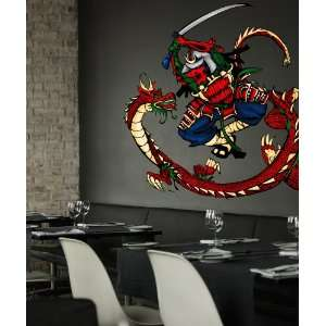 Vinyl Wall Decal Sticker Dragon Fight Color size 53in50in