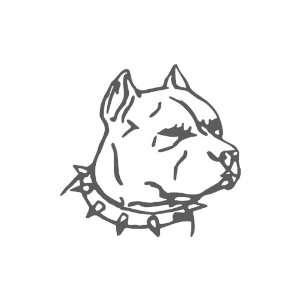 Pit bull DARK GREY Vinyl window decal sticker Office