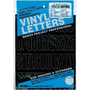 New   Permanent Adhesive Vinyl Letters & Numbers 2 Goth