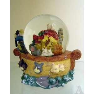 Noahs Ark Animal Musical Snow Globe Water Ball