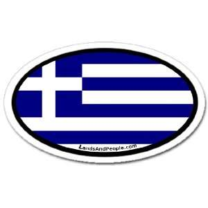 Greece Flag Car Bumper Sticker Decal Oval Automotive