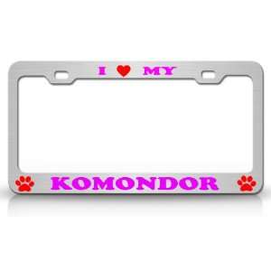 I LOVE MY KOMONDOR Dog Pet Animal High Quality STEEL