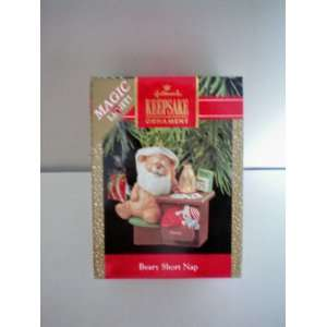 Hallmark Christmas Tree Ornament    Beary Short Nap    Magic Light