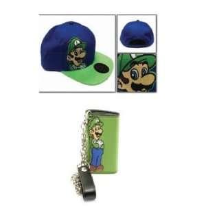 Brothers Super Nintendo Luigi Hat Wallet Set   Hinge Flip Lock Ladies