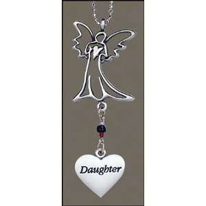 Never Drive Faster Than Your Guardian Angel Pewter for Car Purse Love
