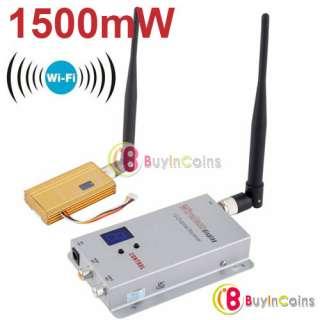 Security  1.2GHz 12CH 1500mW Wireless Camera Transmitter Receiver